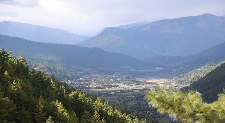 Bumthang from distance
