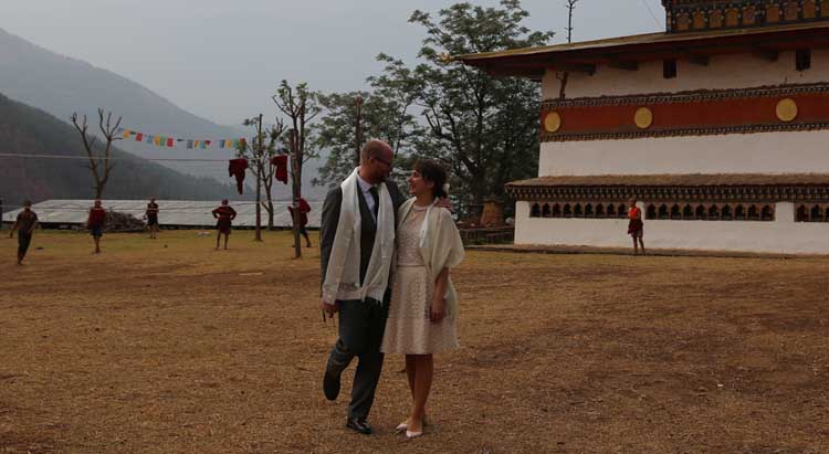 Couples at Chimi Lhakhang