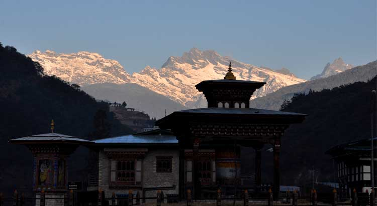 Early morning View from Tashi Yangtse