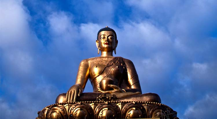 Giant buddha in Bhutan