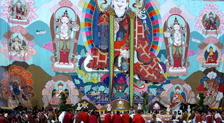 Large sacred painting in display