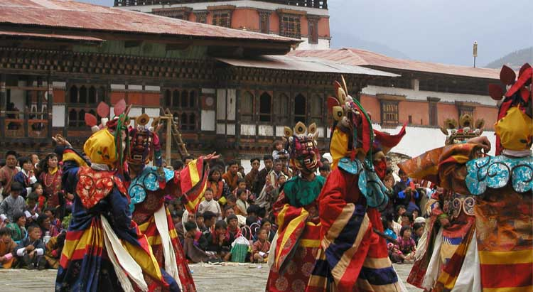 Mask Dance during Paro Festival