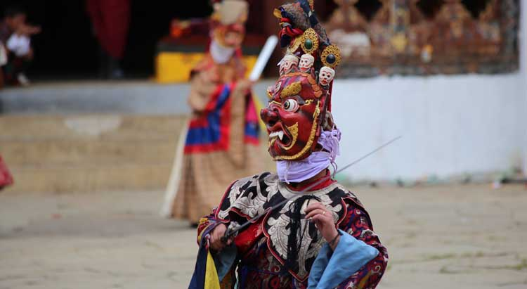 Mask Dance in Paro Festival