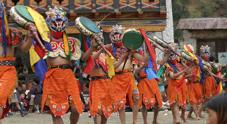 Mask dance during Festival