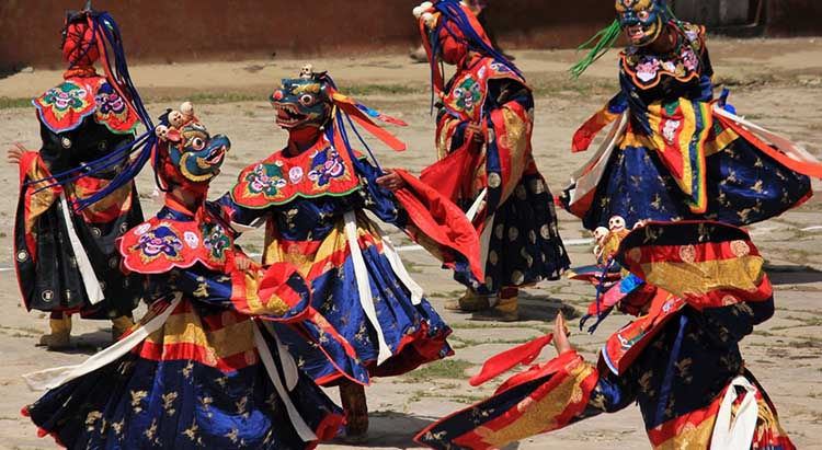 Mask dance in Jakar festival