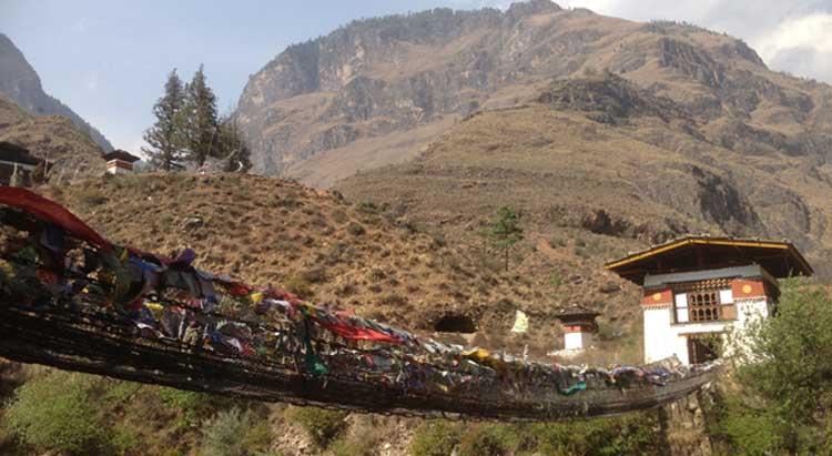 Old Bhutanese style bridge