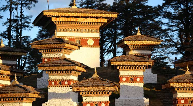 Stupas at Dochula