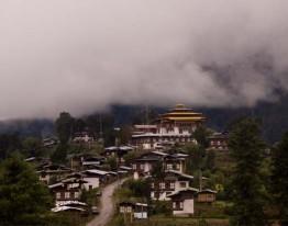 Gantey Monastery in Phobjika