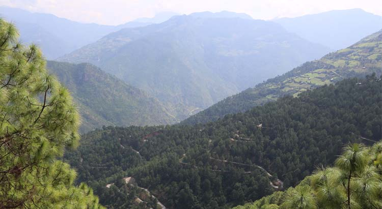 Road after Korila Pass